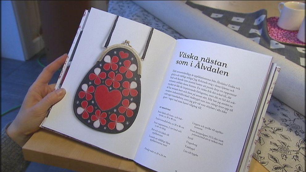 """I boken """"Sy väskor – vackra som smycken"""" finns mallar och tips."""