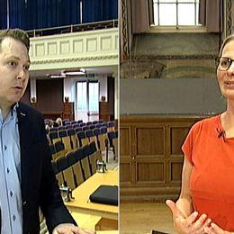 Jerry Broman (M) och Birgitta Rydhagen (MP)