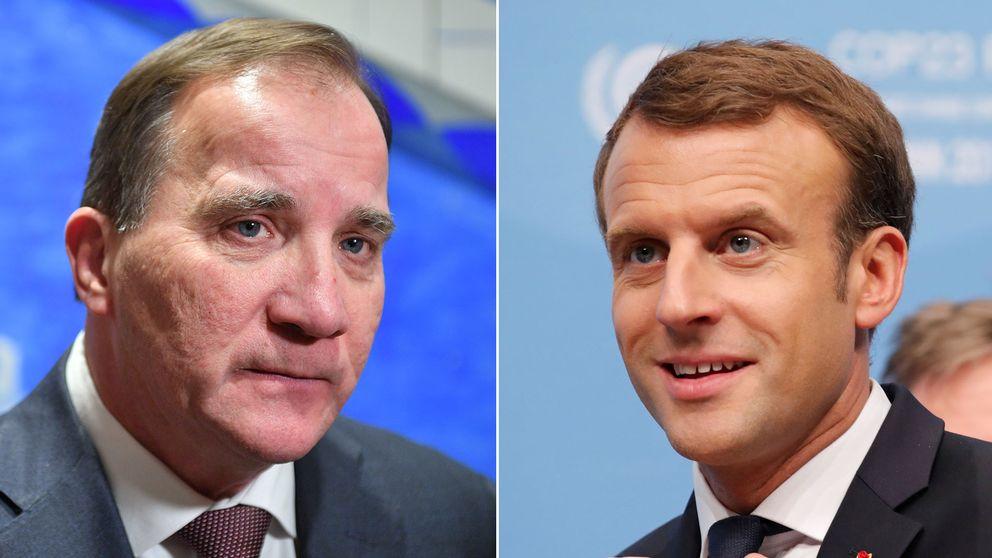 Stefan Löven och Emmanuel Macron