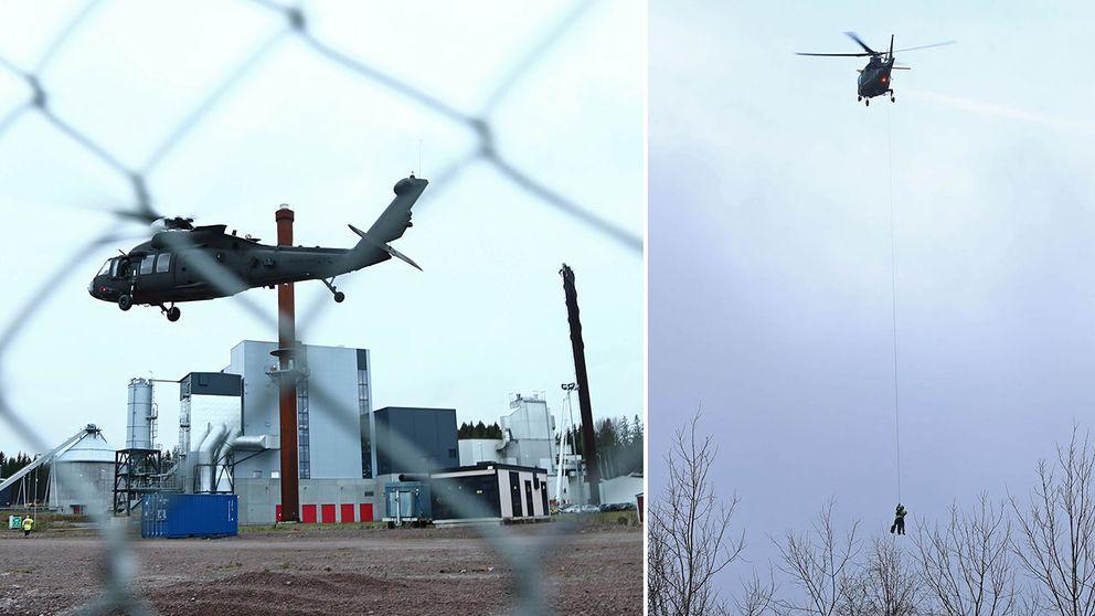 mjölby helikopter räddning skorsten