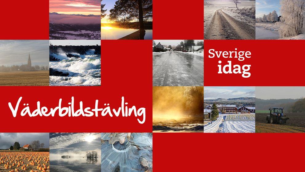 Skicka in en bild på det aktuella svenska vädret till vaderbild@svt.se och delta i tävlingen.