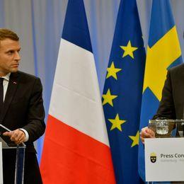 Statsminister Stefan Löfven och Frankrikes president Emmanuel Macron pratade även om me too-manifestationen under toppmöte i Göteborg.