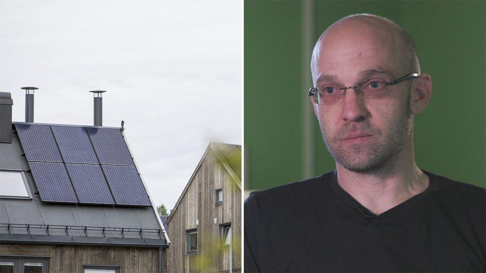 Med hjälp av solceller på taket har Anders Olsson i Kristianstad lyckats bli helt självförsörjande på el.