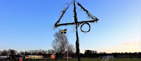 Ett minne från sommaren, en vissen midsommarstång. Möllstorp, Öland