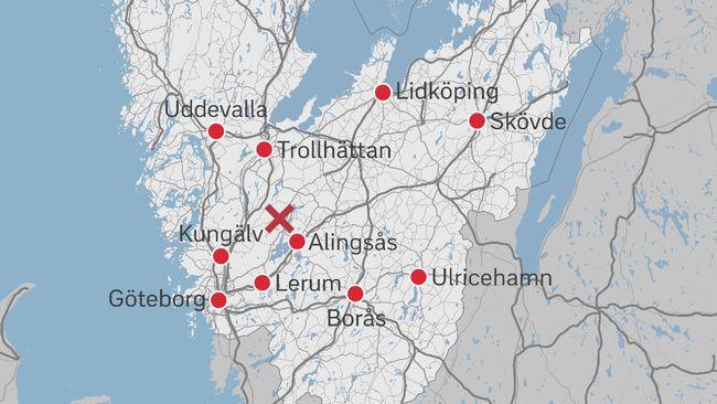 Karta Alingsas Boras.Tre Hus Byter Kommun Fran Lilla Edet Till Alingsas Svt Nyheter