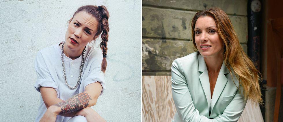 Artisten Stina Velocette och författaren Alexandra Pascalidou.