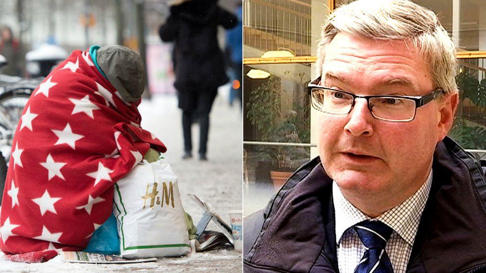 Jonas Ransgård, (M), vill återigen förbjuda tiggeri i Göteborg.
