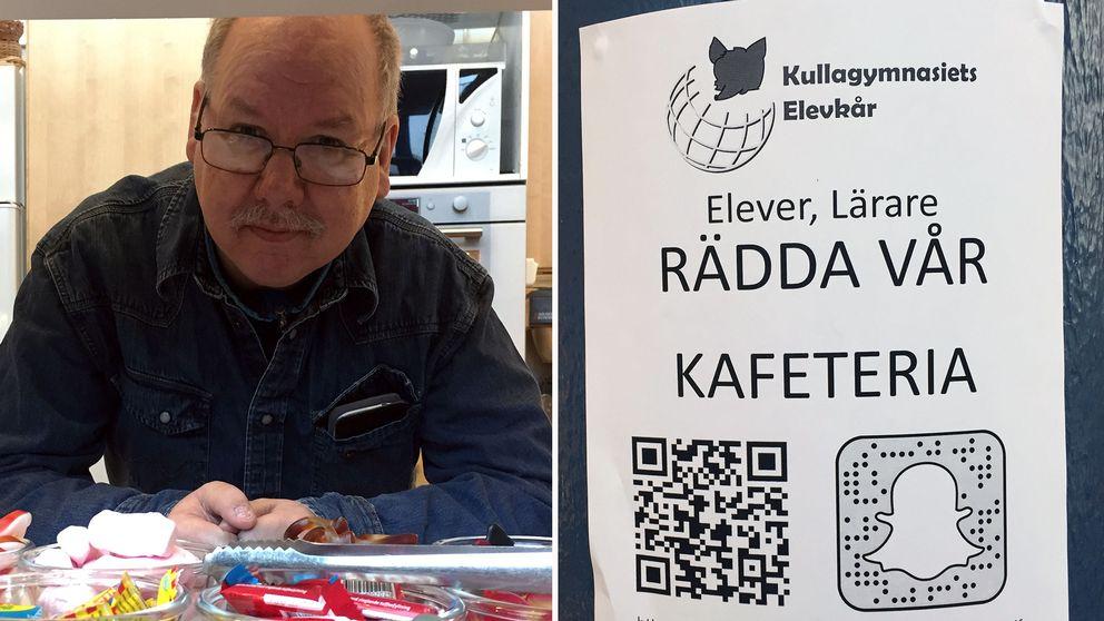 Ulf Thore har jobbat på Kullagymnasiets elevkafé i 15 år.