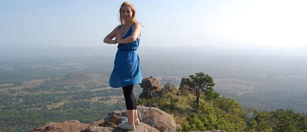 Kim Wall på en resa i Indien 2008.