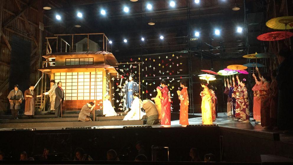 Kostymrepetition av Madama Butterfly.