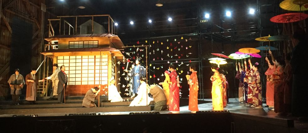Kostymrepetition av Madama Butterfly.