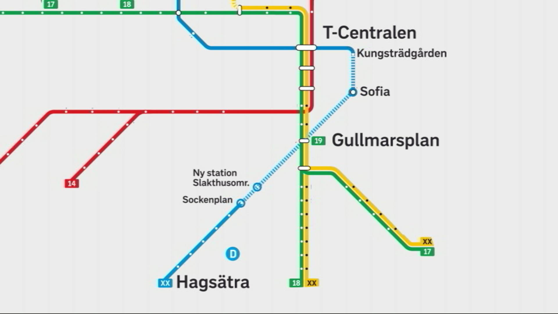 Ny Tunnelbaneuppgang Byggs Vid Gullmarsplan Svt Nyheter