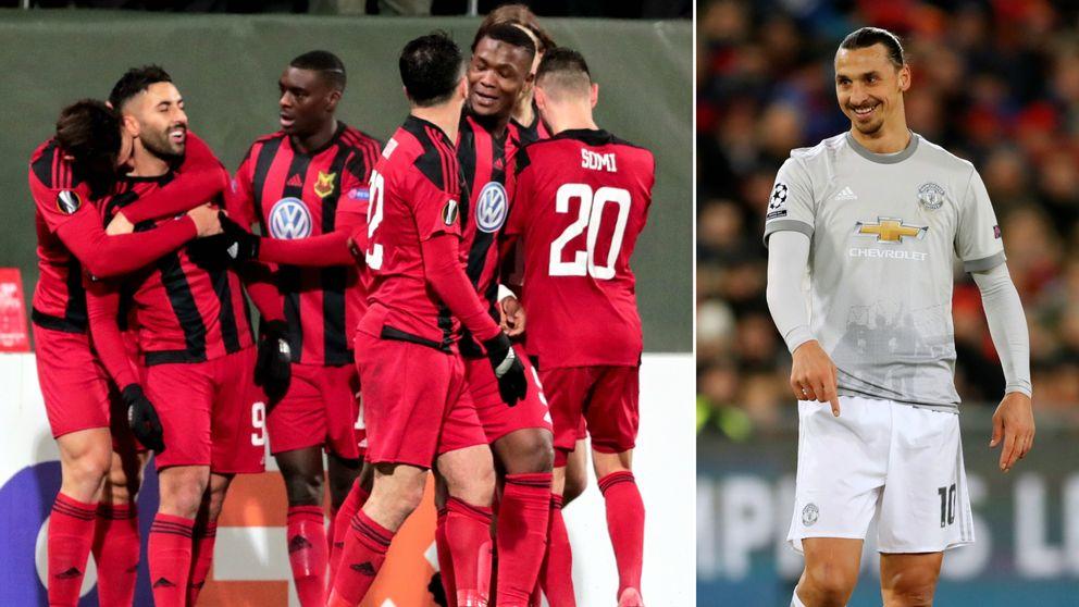 flera öfk-spelare och zlatan Ibrahimovic
