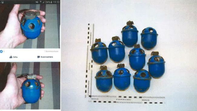 Kvinna fann granater i kallarforrad