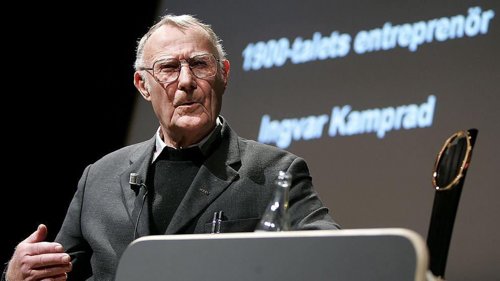Den 25 november 2004 tog Ingvar Kamprad emot utmärkelsen som 1900-talets främste entreprenör i Sverige.