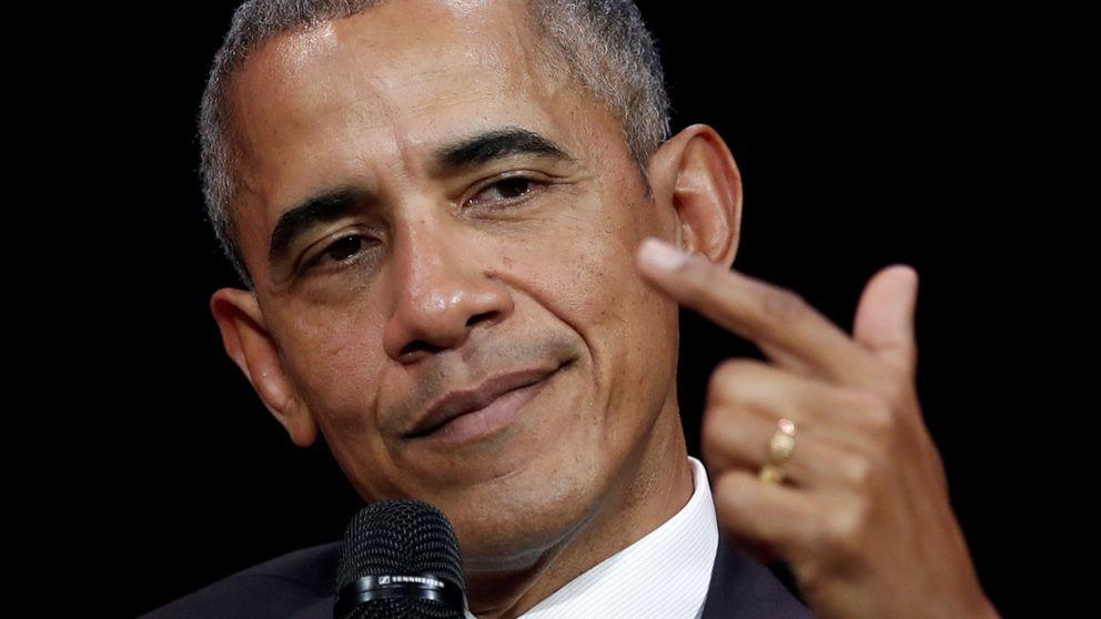 Barack Obama gästade en kommunikationskonferens i Frankrike