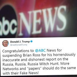 Donald Trump, ABC News och Trumps Twitterinlägg