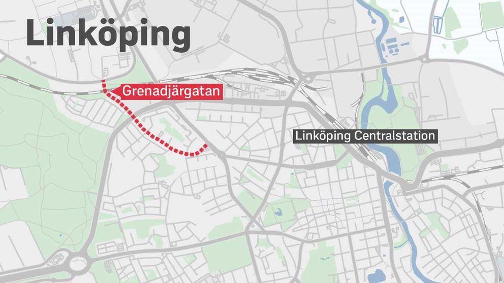 Karta över området i Linköping.