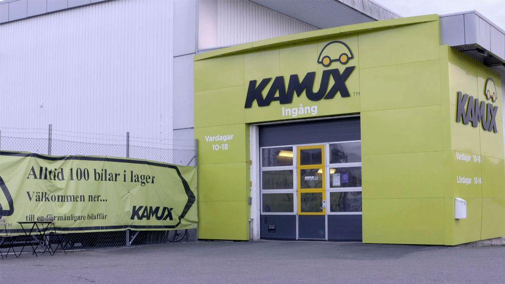 Exteriör från bilfirman Kamux i Uppsala