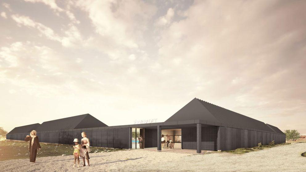 Skiss byggnader nytt utomhusbad Järva