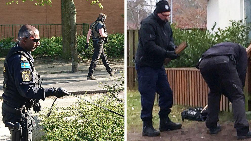 Polisen letar spår i Malmö och Ronneby.