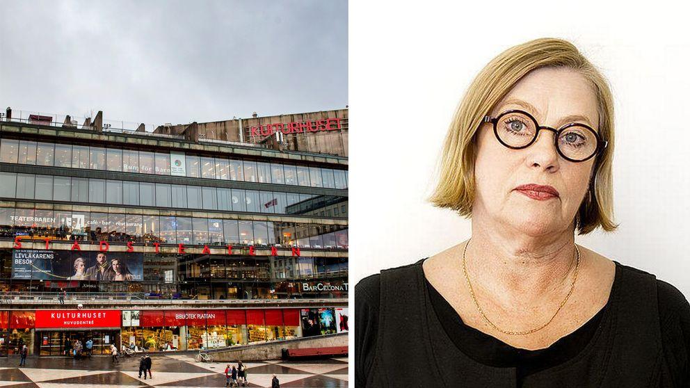 Teaterförbundets ordförande Anna Carlson