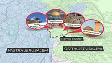 De tre världsreligionerna judendom, islam och kristendom har heliga platser i Jerusalems gamla stadsdel.