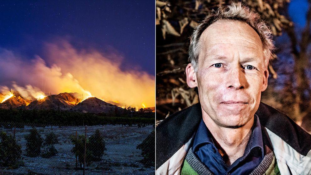 Johan Rockström, professor i miljövetenskap, förklarar bränderna i Kalifornien.