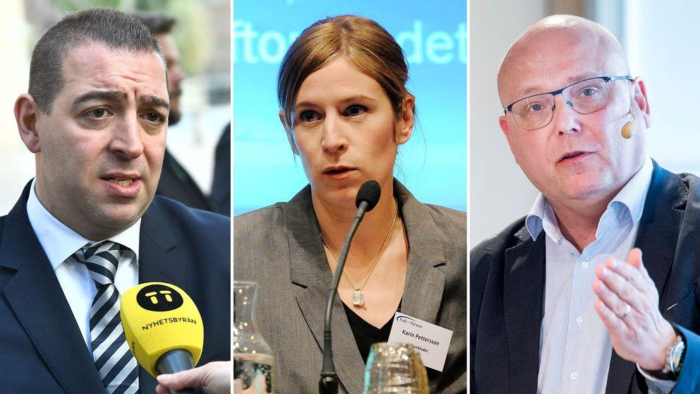 Roger Haddad (L), Karin Pettersson, politisk chefredaktör Aftonbladet, Magnus Ranstorp, terrorforskare