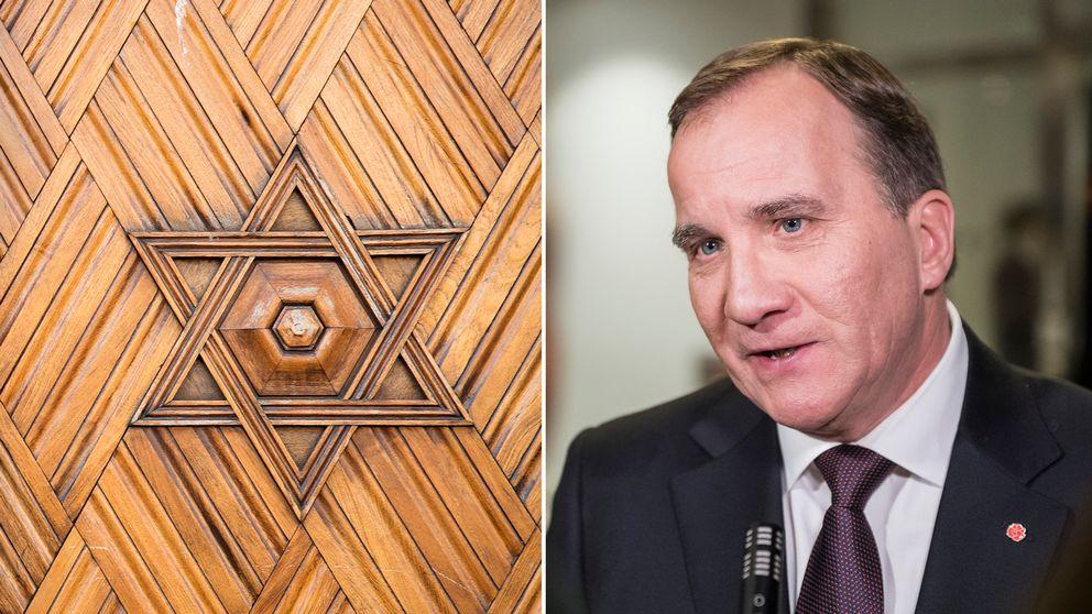 Statsminister Stefan Löfven kritiseras för sin hantering av ökad antisemitism i Sverige.