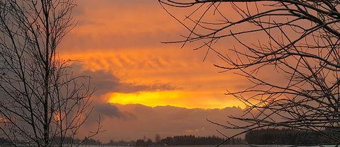 Tagen 8:15 över Västerljung utanför Trosa idag 11 december