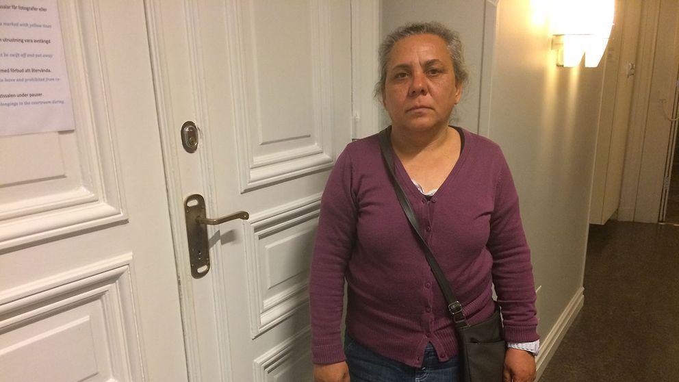 Gabriela Stoica tiggde utanför en butik i Ronneby när hon attackerades av mannen som i dag dömdes för misshandel.