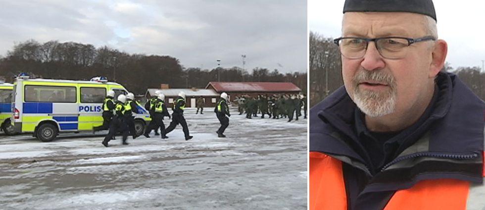 80 poliser i region Väst utbildas på att hantera folkmassor.