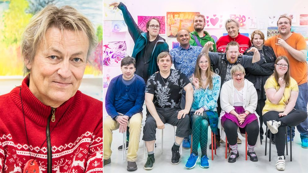 Lars Lerin startar konstskola för funktionsvarierade i nya tv-serien Lerins lärlingar.