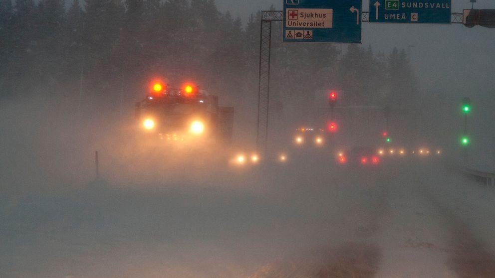 snörök, trafikstörningar