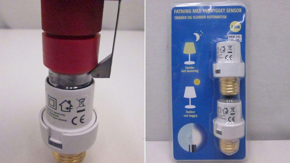 Den aktuella lamphållaren