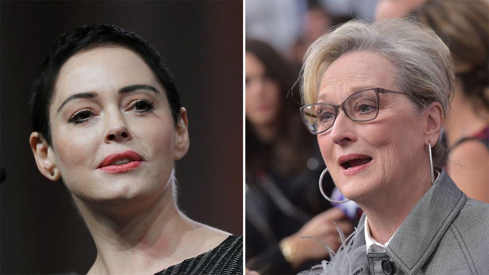 Till vänster Rose McGovan. Till höger Meryl Streep.