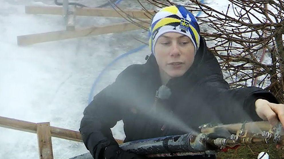 När Lukas blir äldre är målet att ha en egen slalombacke och snöanläggning