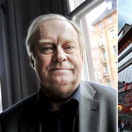 Till vänster Sture Carlsson. Till höger Kulturhusets fasad.