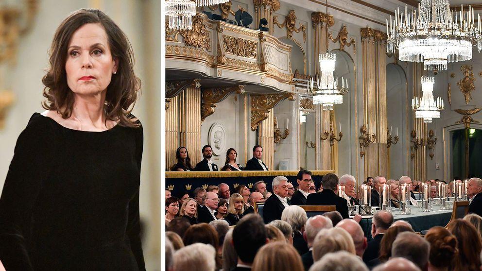 Sara Danius under Svenska Akademins högtidssammankomst.