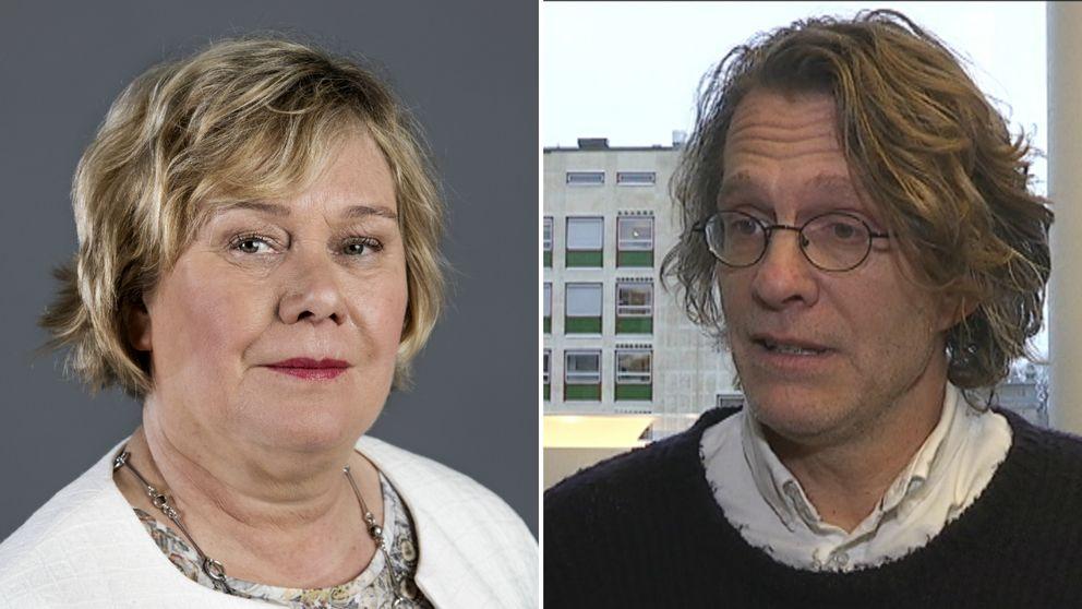 Eva Wiberg, rektor på Göteborgs universitet, och Olof Johansson-Stenman.