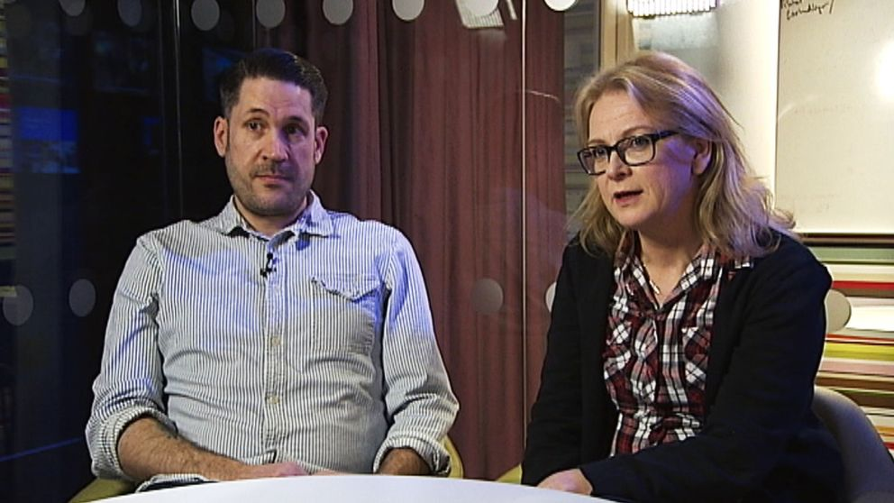 Redaktör Mattias Rapp och reporter Bodil Ljungberg