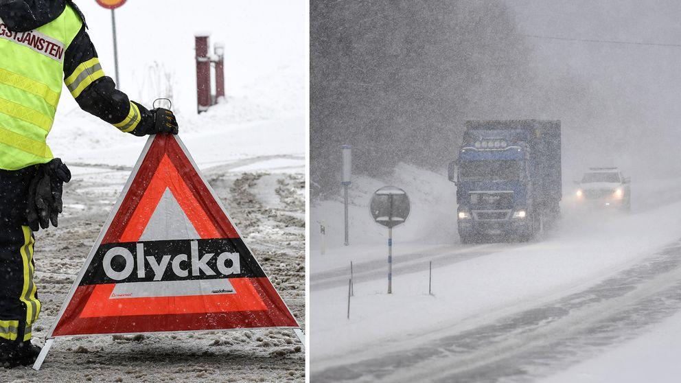 Mer snö väntas i norra Sverige och det kan bli besvärligt på vägarna.