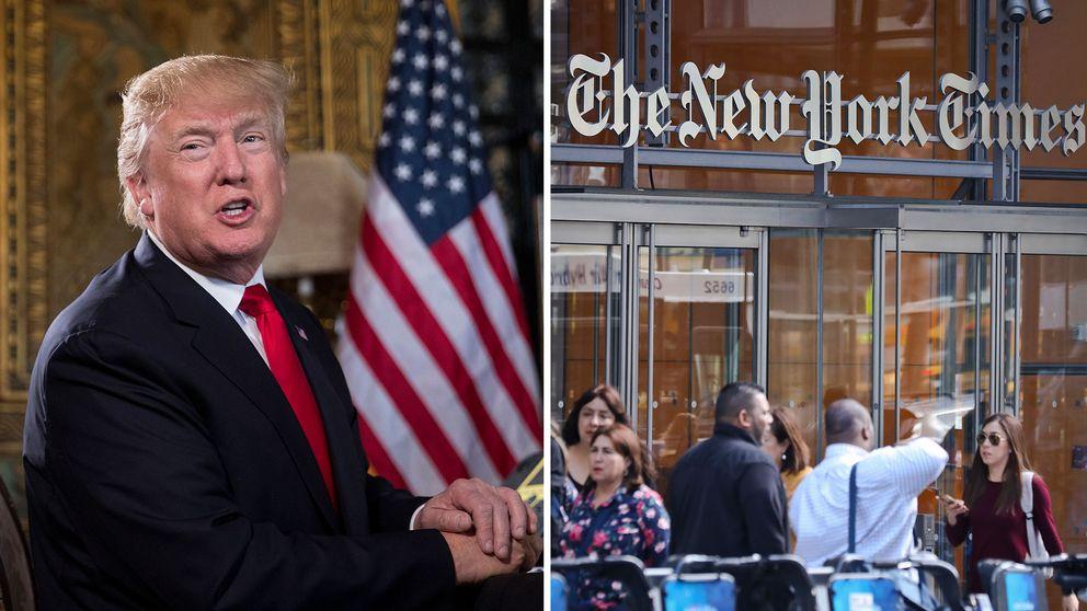 Donald Trump har flera gånger riktat hård kritik mot New York Times. Presidenten gör däremot fortfarande intervjuer med tidningen.
