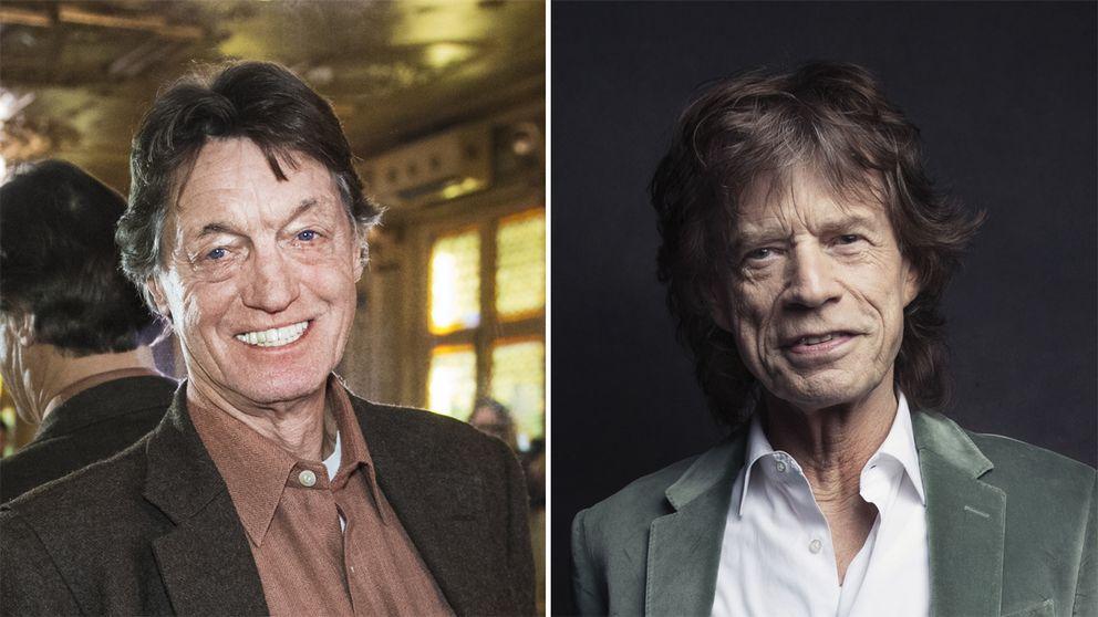 Johannes Brost och Mick Jagger.