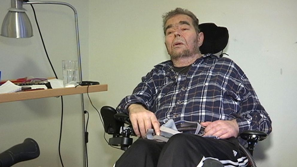 På Strömsborgs vårdboende i Motala bor 73-årige Jan Stamfält.