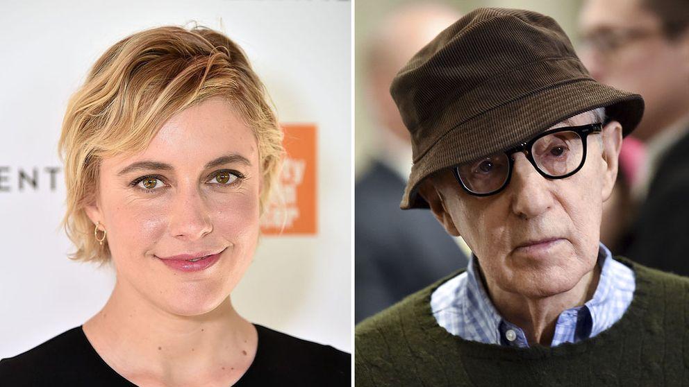 Greta Gerwig och Woody Allen.