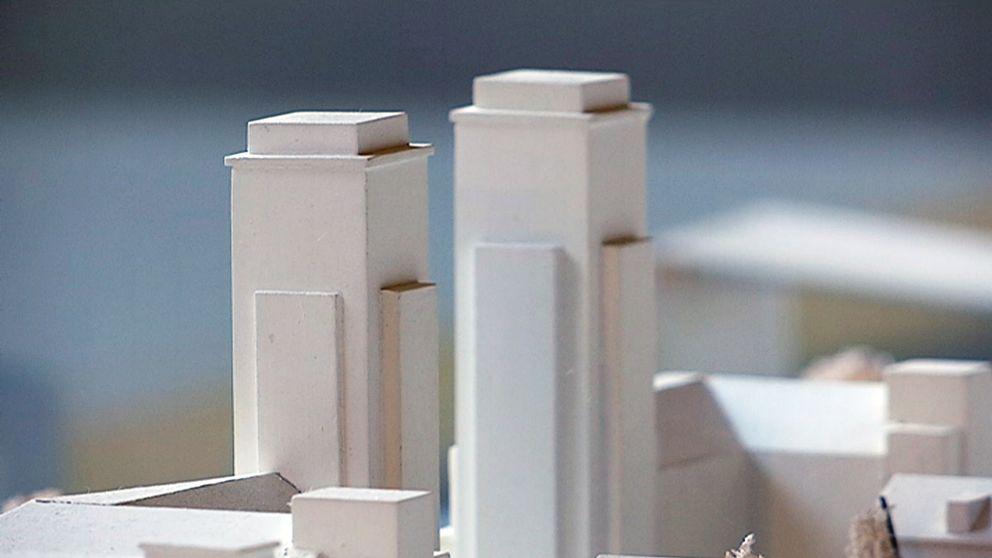 modell av höghus