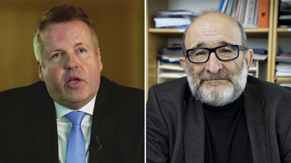 Till vänster domaren Lennart Strinäs. Till höger kriminologen Jerzy Sarnecki.
