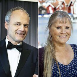 Till vänster Lena Philipsson, i mitten Johan Rheborg, till höger Ulla Skoog.